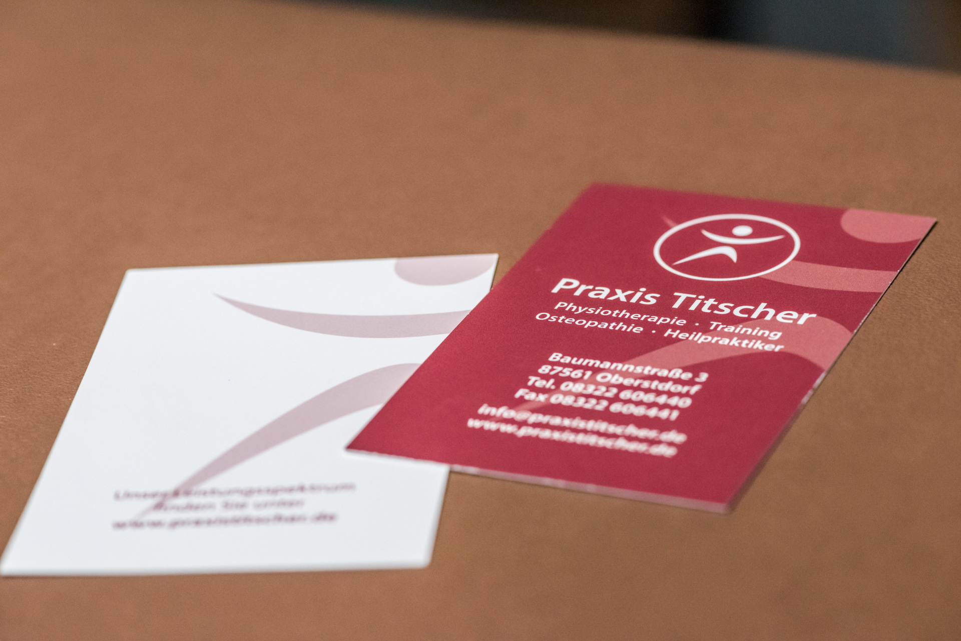 Imageflyer Und Visitenkarten Für Praxis Titscher Oberstdorf